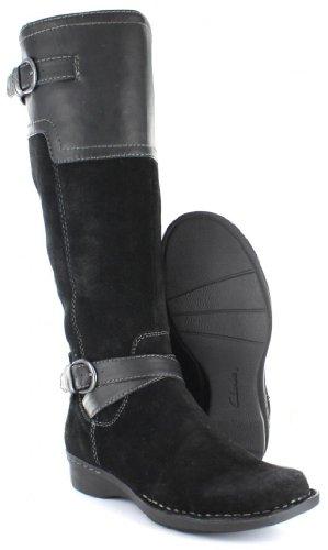 Clarks Women's Whistle Woven Boot,Black,7.5 B US