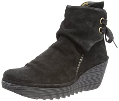 Fly London Womens Yama Oil Suede Boots P500326006 Black 2.5 UK, 35 EU