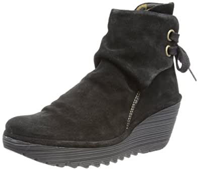Fly London Womens Yama Oil Suede Boots P500326006 Black 3 UK, 36 EU