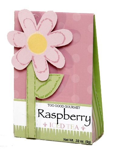 Too Good Gourmet Raspberry Iced Tea, 2-Ounce Pink Spring Flower Boxes (Pack of 6)