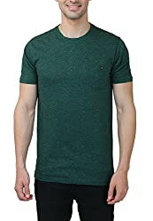 Hash Tagg Men's Cotton T-Shirt HT-3002_Green_L