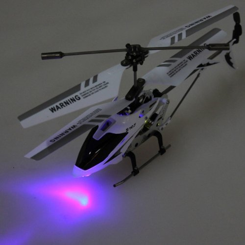 Genuine Syma S107G Gyro 3.5Ch Remote Control Metal Rc Helicopter Led Light White