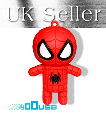 8GB Cute Cartoon Spider Man USB Flash Pen Drive Memory Stick Gift UK from YooUSB
