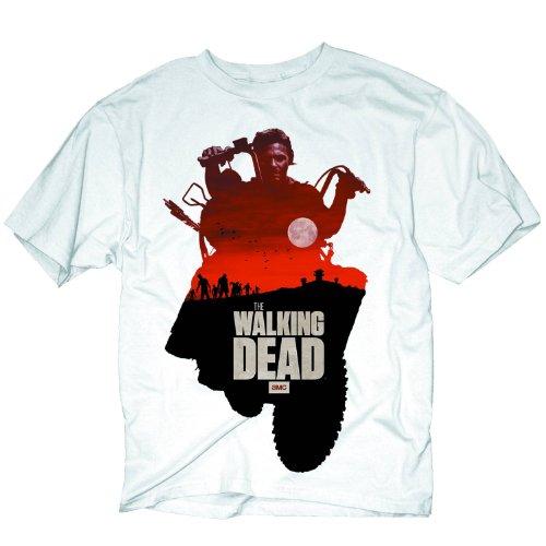 Walking Dead - Daryl Sunset T-Shirt - Medium White