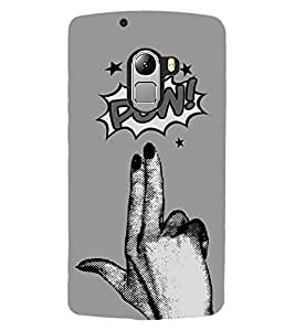 ColourCraft Funny Image Design Back Case Cover for LENOVO VIBE X3 LITE