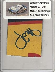 Michael Waltrip Signed Race Used Nascar Sheetmetal Coa - Autographed NASCAR Collages by Sports Memorabilia