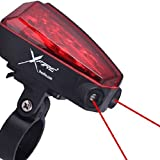 Bike Lane Safety Light Geniune X-Fire 5-LED Taillight with Laser Lane Marker, from IPPINKA