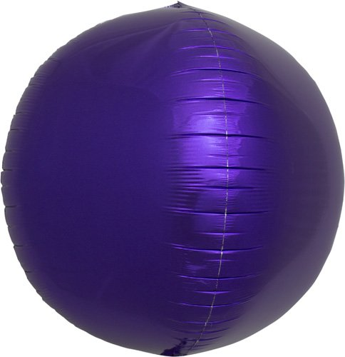 Purple Sphere Helium Foil Balloon - 17 inch