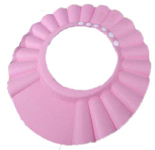 Culater® Sicuro Shampoo Bagno Doccia Bagno Proteggere Cappello Della Protezione Morbida Per Il Bambino Scherza (Rosa)
