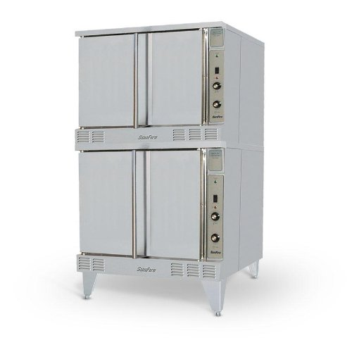 Stainless Steel Gas Range Double Oven