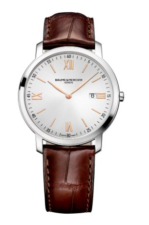 baume-et-mercier-classima-silver-dial-brown-leather-strap-mens-watch-10131