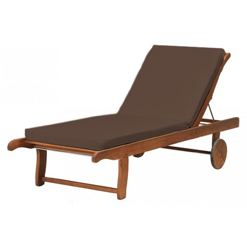 Outdoor Garden Sun Lounger Pad / Cushion in Brown, Comfortable and Lightweight. Great for Indoors and Outdoor Use, Made from High Quality Water Resistant Material.