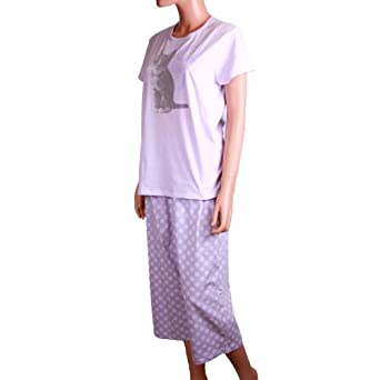 June & Daisy Womens 2-Piece Pajama Set (XXL, Pale Lilac)
