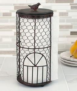 Amazon.com: Rustic Birdcage Paper Towel Holder: Kitchen