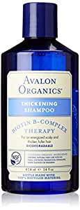 Avalon Organics Thickening Therapy Biotin B-Complex Shampoo, 14 Ounce (Packaging May Vary)
