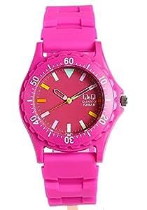 [シチズン キューアンドキュー]CITIZEN Q&Q アナログ表示 メンズ レディース カラーウォッチ ラバー 腕時計 ピンク CITIZEN CBM 腕時計 Q&Q ダイバーズデザイン