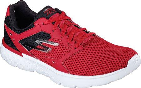Skechers Men's GOrun 400 Running Shoe,Red/Black,US 13 M