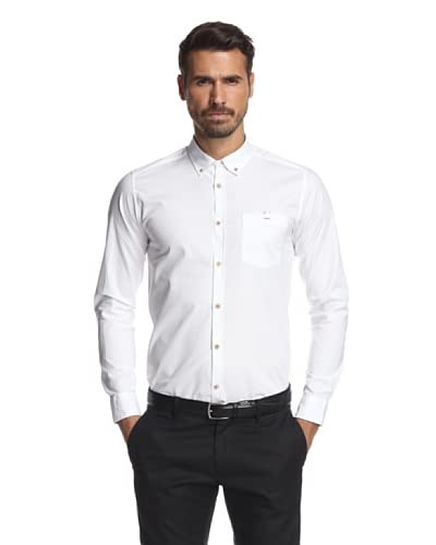 Ted Baker Men's Oxbid Solid Woven Shirt