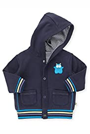 Pure Cotton Hooded Monster Motif Jacket