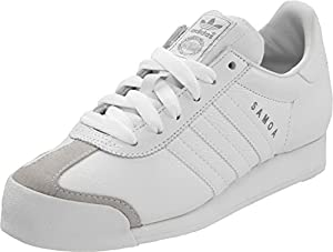 adidas Originals Men's Samoa Retro Sneaker,White/Silver,11 D
