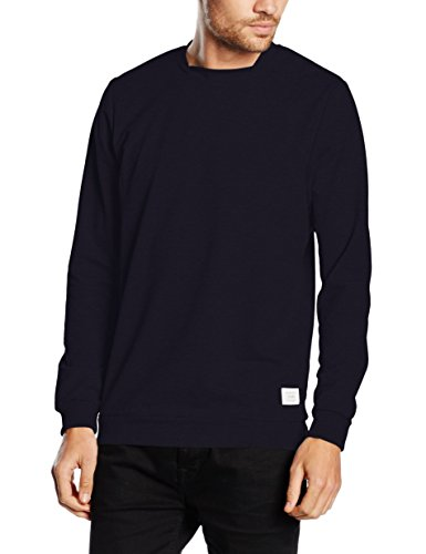 JACK & JONES Jcoarms Sweat Crew Neck, Felpa Uomo, Blau (Navy Blazer Fit:Reg), Large