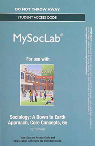 NEW MySocLab without Pearson eText -- Standalone Access -- for Sociology: Core Concepts (6th Edition) (Rent Mastering Sociology compare prices)