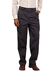 Bottom's Cotton Chinos Two Pleated Cartini Grey Colored Trouser For Men