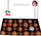 Chocolate Covered Cherry Cordials, Assortment of Milk and Dark Chocolate