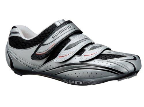 Shimano R077 Road Cycling Shoes, Silver, 44