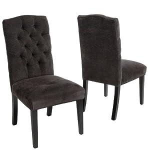 Great Deal Furniture Clark Dark Grey Fabric Tufted Dining