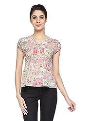 Niriksha Beige Colour Cotton Tops