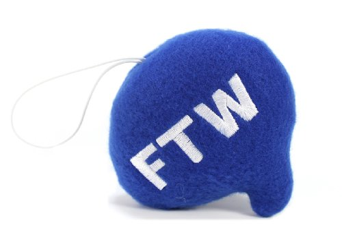 "Throwboy Throwbabies ""FTW"" Chat Mini 3.5"" Throw Pillow, Blue - 1"