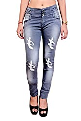 Blinkin Distressed Jeans for women (Stretchable Denim Fabric)