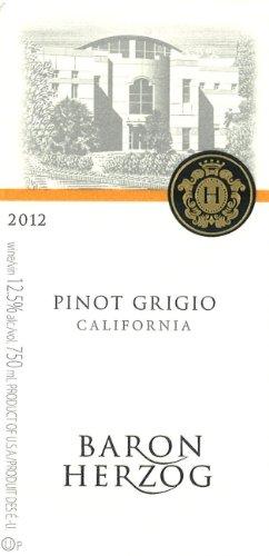 2012 Baron Herzog Pinot Grigio 750 Ml