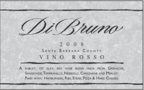 2008 Di Bruno Vino Rosso, Santa Barbara County 750 Ml