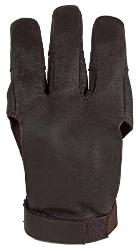 Damascus DWC Archery Shooting Glove, Three Finger Design Fits Either Hand, Velcro Strap, LargeDamascus DWC Archery Shooting Glove, Three Finger Design Fits Either Hand, Velcro Strap, Large