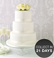 Elegant Round Chocolate Wedding Cake