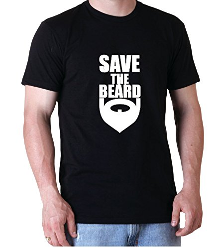 Save The Beard Facial Hair Funny Quote Awesome Design Men Herren Black T-shirt