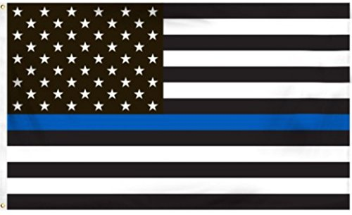 Blue Line Flags Thin Honoring Men Women Law Enforcement 3 ...