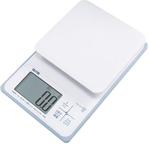 タニタ 洗えるデジタルクッキングスケール 2kg(0.1g単位/200gまで) ホワイト KW-220-WH