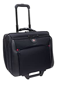 "Wenger Swissgear Potomac Laptop Roller Case, inc Matching Laptop Case, fits upto 15.4"", black"