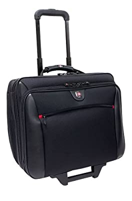 "Wenger Swissgear Potomac Laptop Roller Case, inc Matching Laptop Case, fits upto 15.4"", black from Wenger"