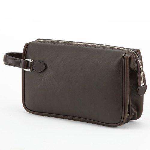 LuggageAOKI(青木鞄)[GAZA(ガザ) DINALY BUSINESS II] 本皮メンズポーチ チョコ(4871-56)
