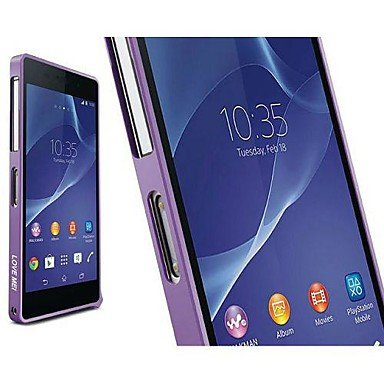 Cases , LOVE MEI Metal Bumper Hard Case for Sony Xperia Z2 L50W D6502 D6503(Assorted Colors) ( Color : Purple ) (Z2 Case Bumper compare prices)