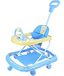 NOVICZ Baby Walker (Blue) Foldable and Height Adjustable