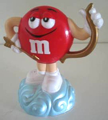 M&Ms Red Cupid with Bow and Moveable Wings Topper - 1