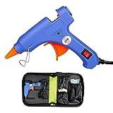 with 50pcs Glue Sticks & Bag, Mini Glue Gun Kit, 20W Hot Glue Gun Super Glue Gun for DIY, Handmade Craft, Sealing, Quick Repairs (Tamaño: With bag)