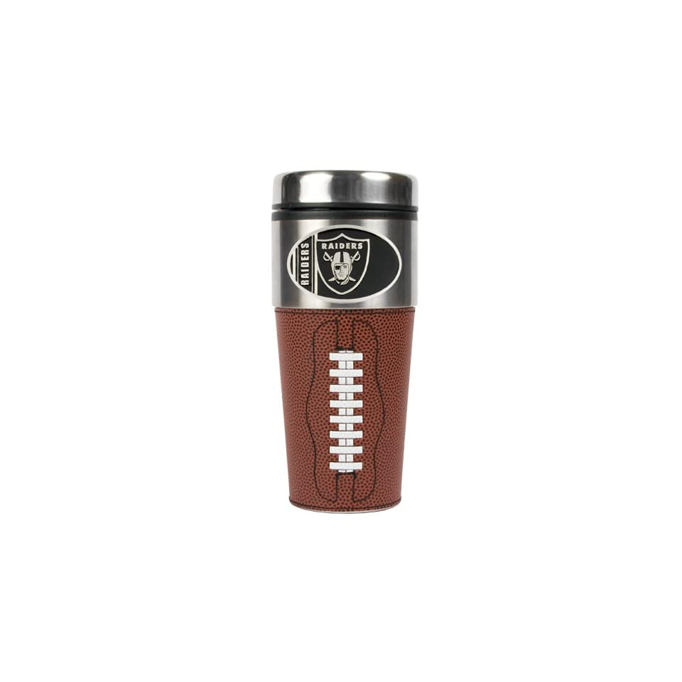 BSS   Oakland Raiders NFL 16oz GameBall Travel Tumbler