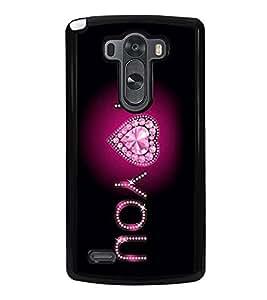 I Love You 2D Hard Polycarbonate Designer Back Case Cover for LG G3 :: LG G3 Dual LTE :: LG G3 D855 D850 D851 D852