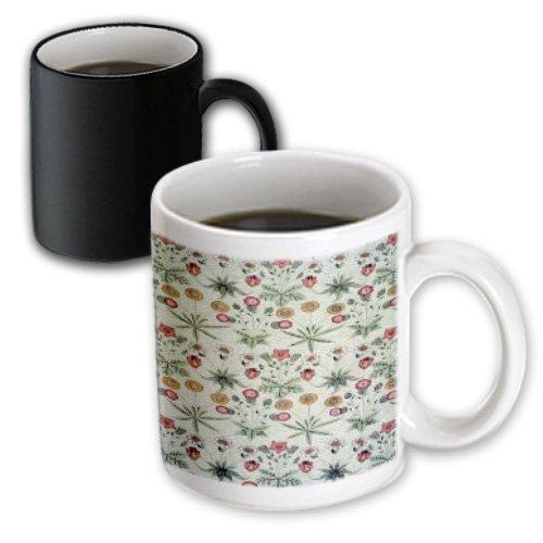 Florene - Country Living - Print Of Vintage Green Rose N Yellow Tiny Floral - Mugs - 11Oz Magic Transforming Mug - Mug_186316_3